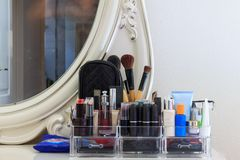 Beautiful dressing table with make up Stock Photo