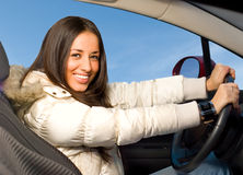 Beautiful driver Royalty Free Stock Images