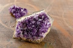 Beautiful amethyst druse close-up Royalty Free Stock Photo