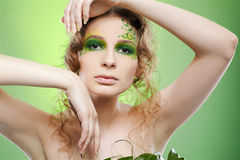 Beautiful dryad girl Royalty Free Stock Photo