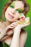 Beautiful dryad girl Stock Photography