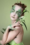 Beautiful dryad girl Stock Photos
