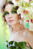 Beautiful dryad girl Royalty Free Stock Photography