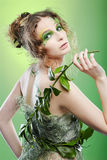 Beautiful dryad girl Stock Photo