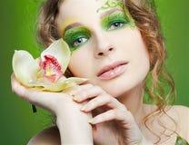 Beautiful dryad girl Stock Photo