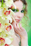Beautiful dryad girl Royalty Free Stock Photos