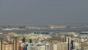 Beautiful dubai airport 4k time lapse Royalty Free Stock Photo