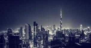 Beautiful Dubai city at night Stock Photos