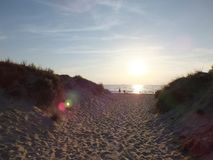 Beautiful dune landscape. And long beach at Baltic Sea Stock Photos