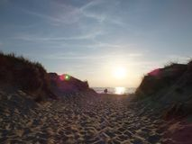 Beautiful dune landscape. And long beach at Baltic Sea Royalty Free Stock Photos