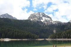Beautiful Durmitor National Park. Meded peak, and Black Lake, Crno jezero, Zabljak royalty free stock photo