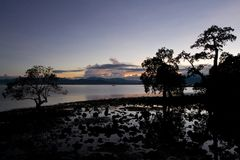 Beautiful Dusk. Dusk at one of the beaches in the Philippines Stock Image