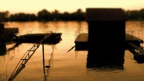 Beautiful Dusk Over River Sava 04 stock footage