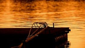 Beautiful Dusk On River Sava With Pontoons stock footage