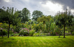 Beautiful Dutch city park elements close-up Royalty Free Stock Images