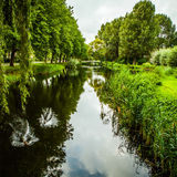 Beautiful Dutch city park elements close-up Royalty Free Stock Photography