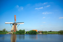 Beautiful dutch windmill Royalty Free Stock Photography