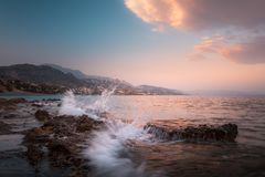 Beautiful dynamic seascape Royalty Free Stock Photos