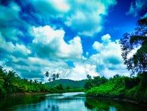 Beautiful dynamic sky. In India stock photos