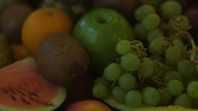Beautiful dynamic view of healthy fruits food stock video footage