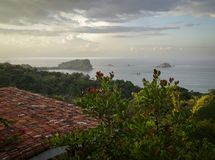 View of Ocean over Rooftop-Costa Rica Royalty Free Stock Images