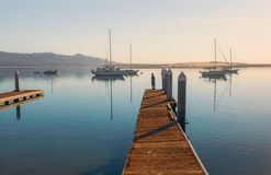 Beautiful early morning over the sea royalty free stock image