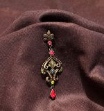 A beautiful earring in black background Stock Photo