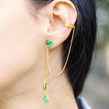 Beautiful earring. Woman wearing a beautiful earring Royalty Free Stock Image