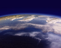 Beautiful Earth. Overlooking the planet from outer space Royalty Free Stock Photography