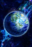 Beautiful Earth is in space Stock Image