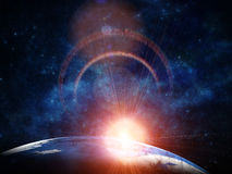Beautiful earth in space Royalty Free Stock Photo