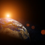 Beautiful earth in space Stock Photo