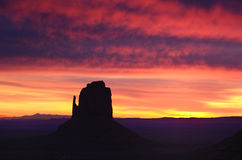 Beautiful East Mitten Butte Sunrise, Monument Valley Royalty Free Stock Photo