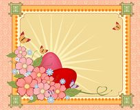 Beautiful Easter background with flowers and place for text Royalty Free Stock Photography