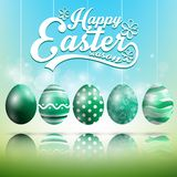 Beautiful Easter blue green Background with eggs of shadow. Illustration of Beautiful Easter blue green Background with eggs of shadow Royalty Free Stock Photo