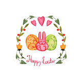 Beautiful Easter card Stock Image