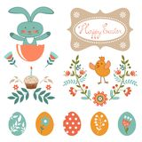 Beautiful Easter collection Royalty Free Stock Images