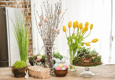Beautiful Easter composition Stock Photography