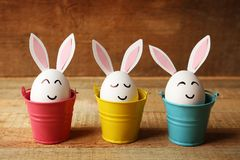 Beautiful Easter composition with white eggs Royalty Free Stock Image