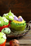 Beautiful Easter Cupcakes Royalty Free Stock Image