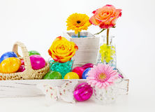 Beautiful easter decorations Stock Images