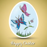 Beautiful Easter Egg. Vector background with beautiful Easter Egg vector illustration