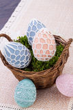 Beautiful easter egg decoration colorfull eggs Stock Photography