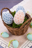Beautiful easter egg decoration colorfull eggs Royalty Free Stock Image