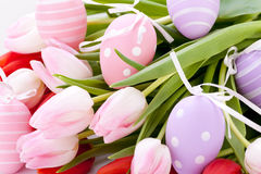 Beautiful easter egg decoration colorfull eggs Stock Images