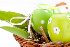 Beautiful easter egg decoration colorfull eggs seasonal pastel Royalty Free Stock Photos
