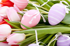Beautiful easter egg decoration colorfull eggs seasonal pastel Royalty Free Stock Image