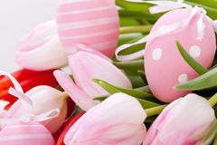 Beautiful easter egg decoration colorfull eggs seasonal pastel Stock Photography