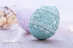 Beautiful easter egg decoration colorfull eggs seasonal pastel Stock Photo