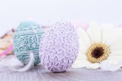Beautiful easter egg decoration colorfull eggs seasonal pastel Stock Images